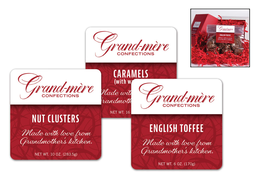Grand-mere Confections labels
